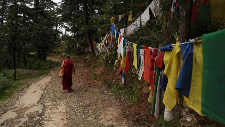 Tibetan Monk in Dharamsala, India