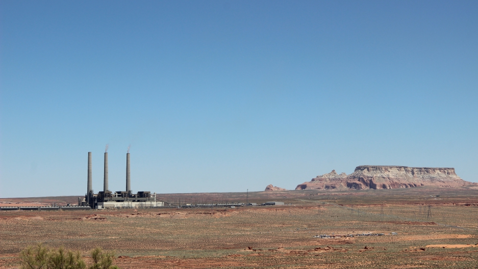 Power plant and sandstone formation