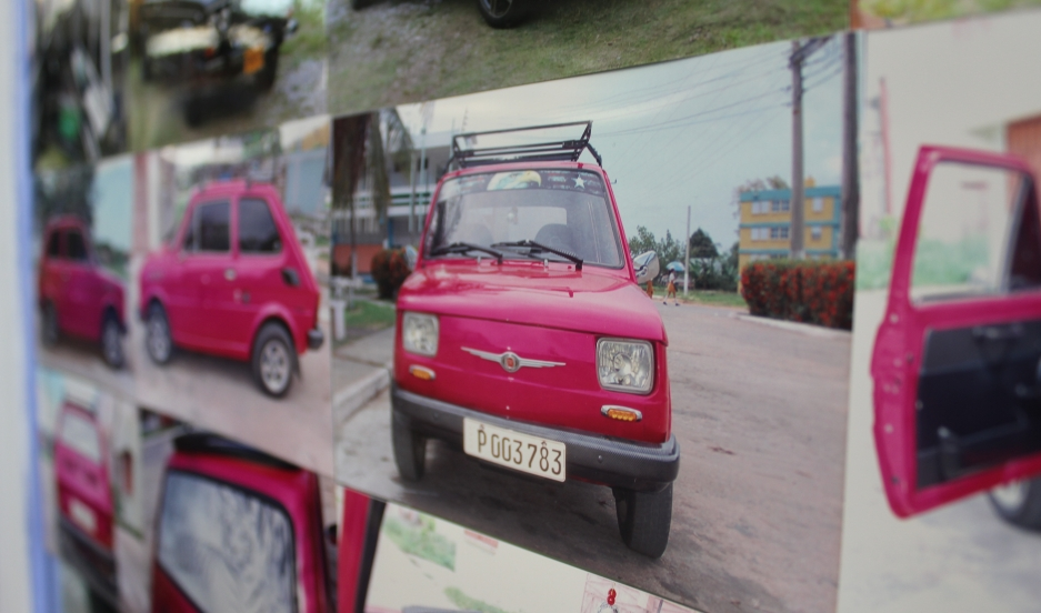 The walls of Zakharov Auto Parts in Hialeah, just outside Miami, are filled with photos of vintage Russian cars in Cuba fixed with parts bought at the store.