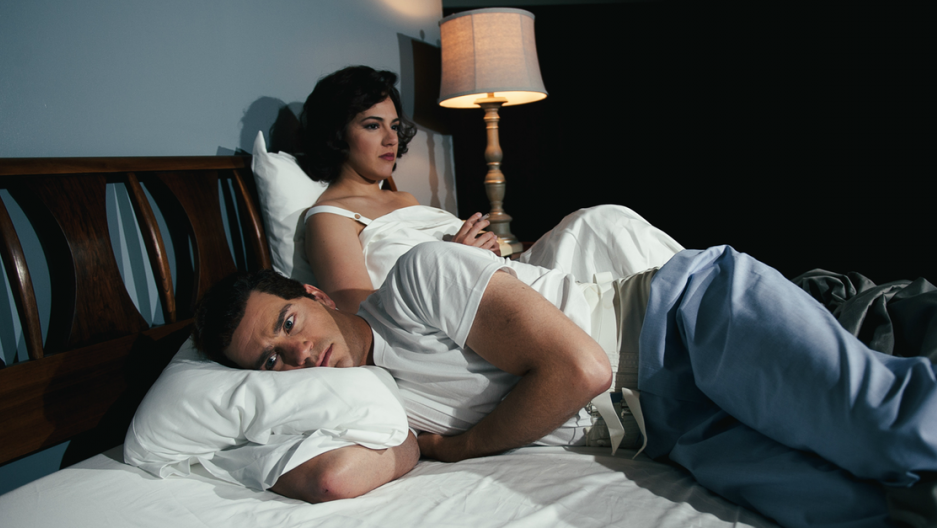 "Daniela Mack and Matthew Worth as John and Jackie Kennedy in the new opera ""JFK""  (Nine Photography )"