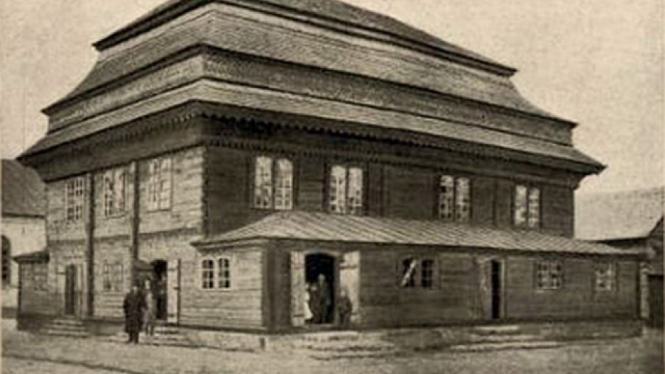 Jedwabne, Poland synagogue in 19th century