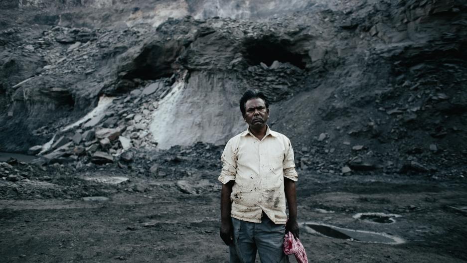 Coal miner in Jhaira, India