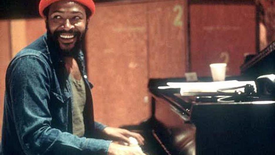 Marvin Gaye at piano