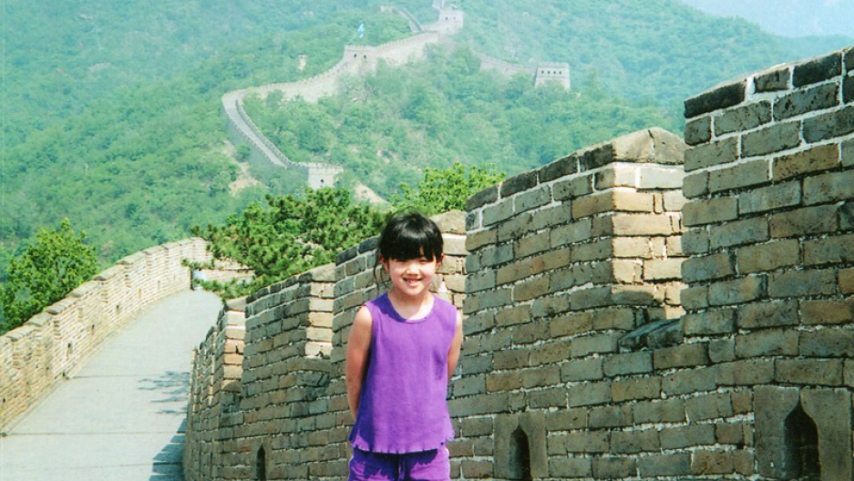 Maya Ludtke, born in China, adopted by a Caucasian American single mother, on her first trip back to the country of her birth