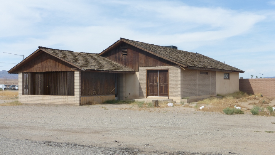 Former barrack turned into a house in nearby town of Parker, Arizona.