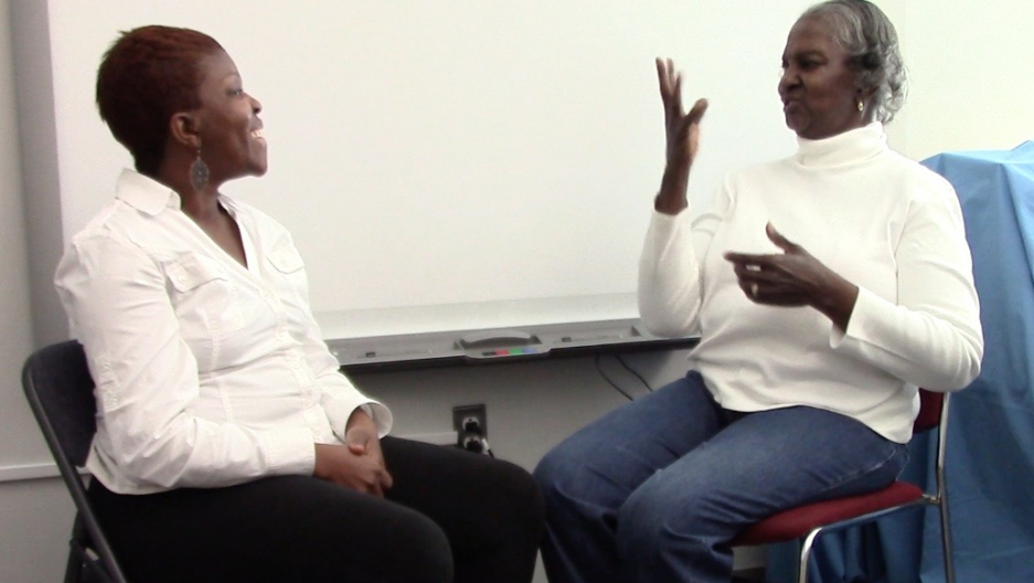 Two participants in the research project to document Philadelphia's ASL dialect.