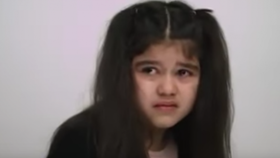 Scarlet, a 7 year old who was born in Denmark reacting to being told she is not Danish.