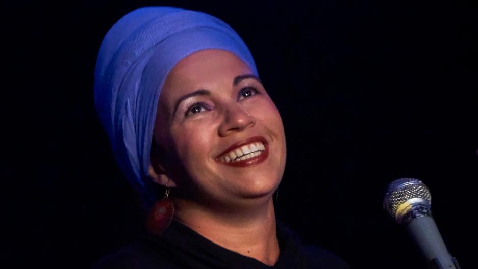 Telmary Diaz performs at Centro Cultural Bertolt Brecht in Havana, Cuba.