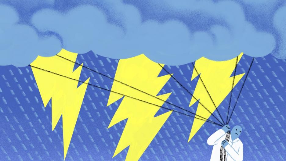 Kurt Vonnegut and the Rainmakers, illustration