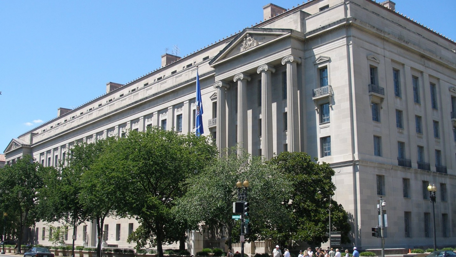The US Justice Department headquarters