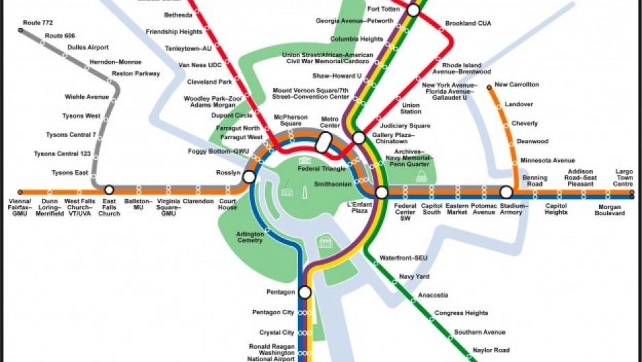 ashington D.C. Metro map as a circle. Image courtesy of Max Roberts and tubemapcentral.com