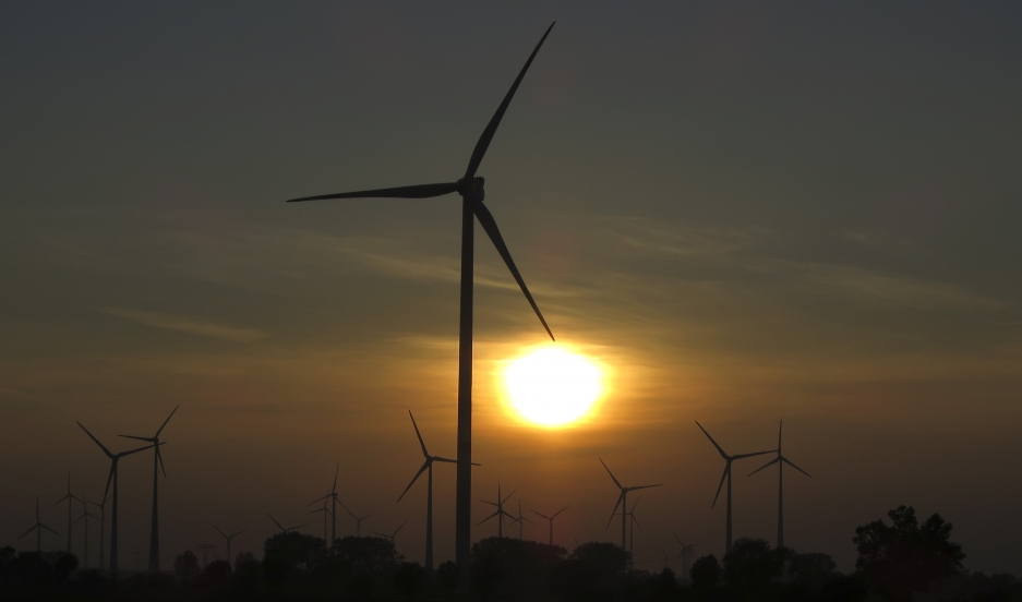 A surge in wind turbines like these have helped Germany generate more than 25% of its electricity from renewable sources. Since Germany's electricity system is interconnected with most of the rest of western Europe, the overall percentage of this kind of