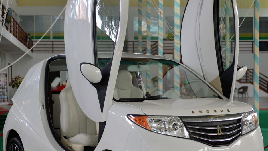 Cambodia launches a home-grown electric car | Public Radio International