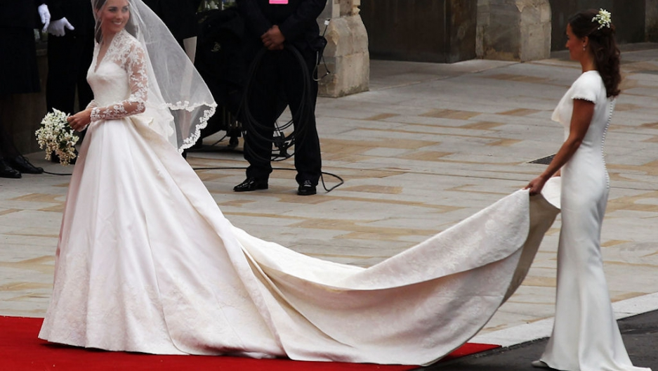Brides cold feet predict divorce study says public radio kate middleton looks back at her maid of honor sister pippa after arriving at westminster abbey in london england for her wedding to prince william on junglespirit Choice Image