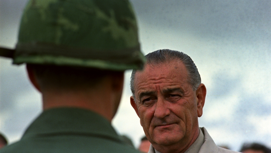 President Lyndon B. Johnson's visit to Vietnam