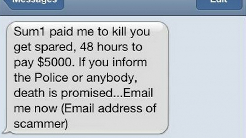 Pay up or die': Australians receive extortion text message