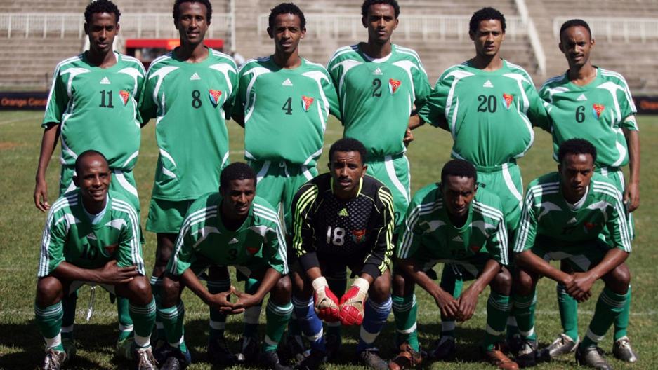9d5229878 In December 2009 a dozen players from Eritrea s national football team  (above) went missing after a competition in Kenya and on Monday half of  Eritrean club ...