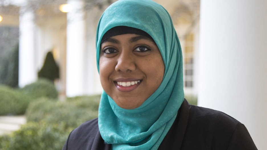 Rumana Ahmed at the White House during the last year of the Obama administration.