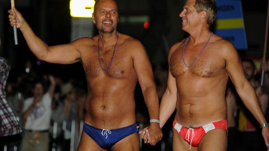 Participants March During The 34th Annual Gay And Lesbian Mardi Gras Parade In Sydney On March 5 2011