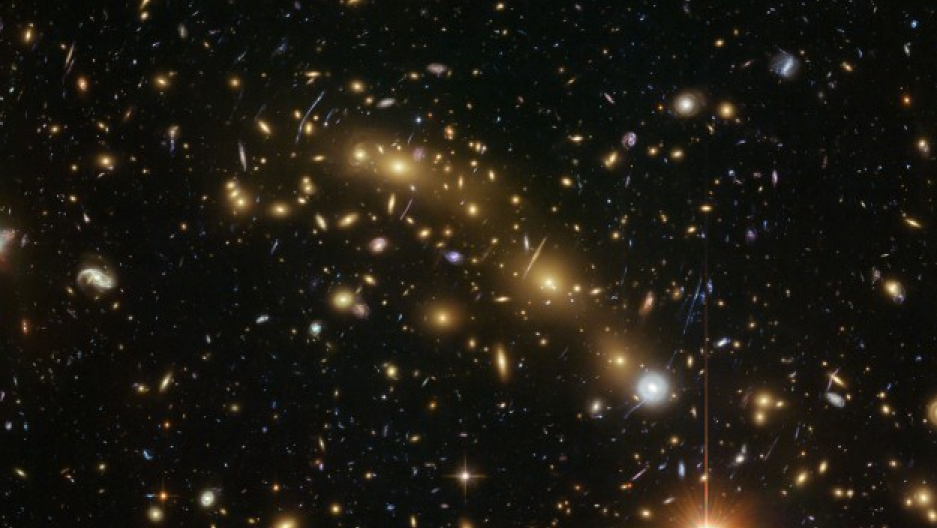 the Hubble Space Telescope Image of a Frontier Fields galaxy cluster, Abell 2744 (one of the deepest images taken of any cluster in the universe).   Credit: ESA/Hubble, NASA, HST Frontier Fields and J. Lotz, M. Mountain, A. Koekemoer, and the HFF Team (ST