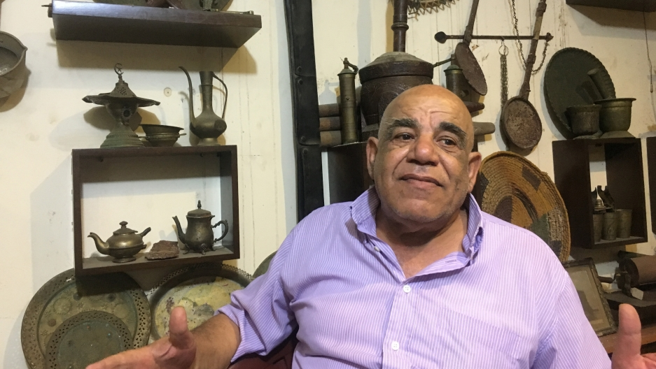 Dr. Mohammed al-Khatib, founder of the Museum of Memories in Beirut. He started the museum with a question for one of his patients: Do you have something from Palestine?