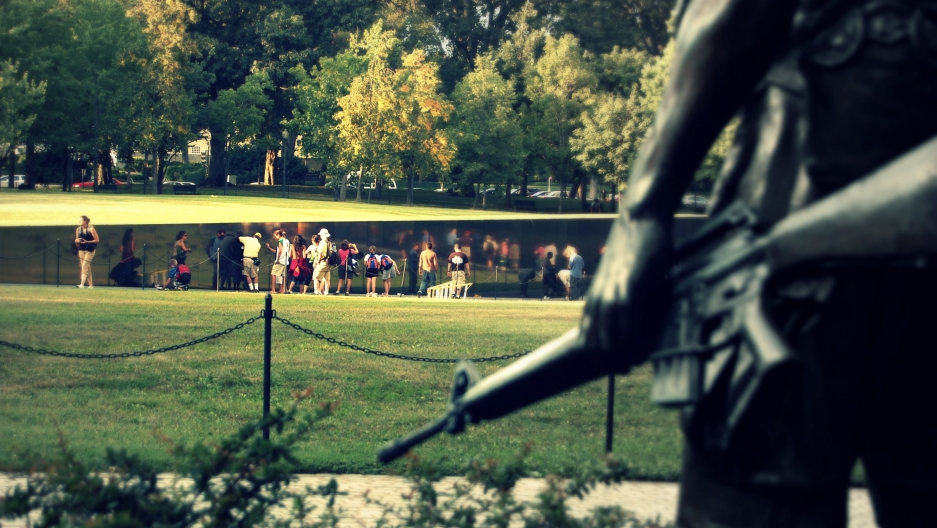 The Vietnam Veterans Memorial in Washington, DC.