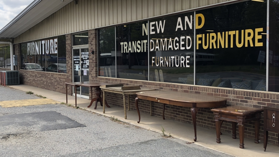 Since the turn of the 20th century, cities like Lexington, North Carolina were the furniture-making capitals of America. The area has lost 60 percent of of its manufacturing jobs, largely to Asian factories, since the 1990's.