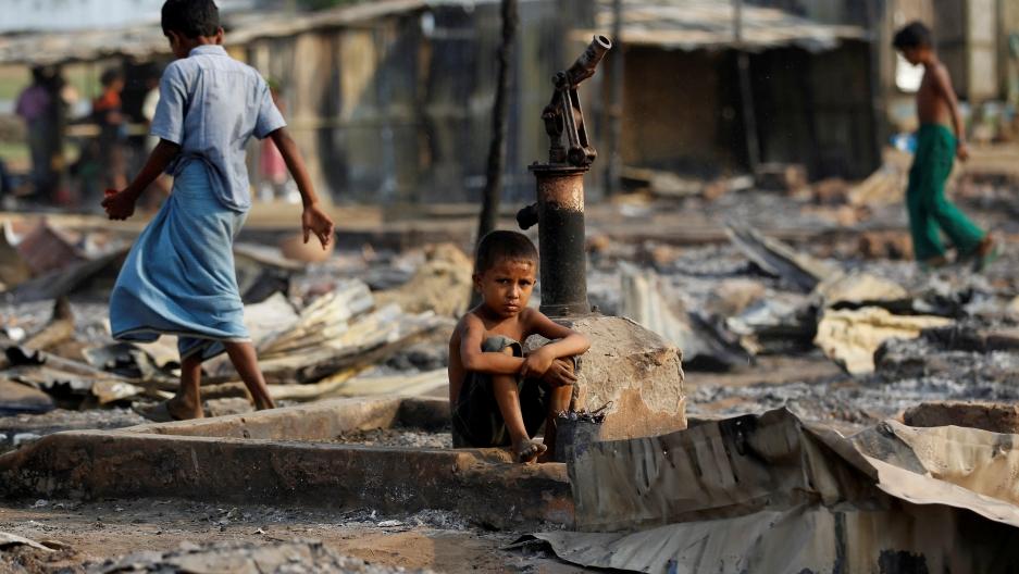 a young Rohingya boy