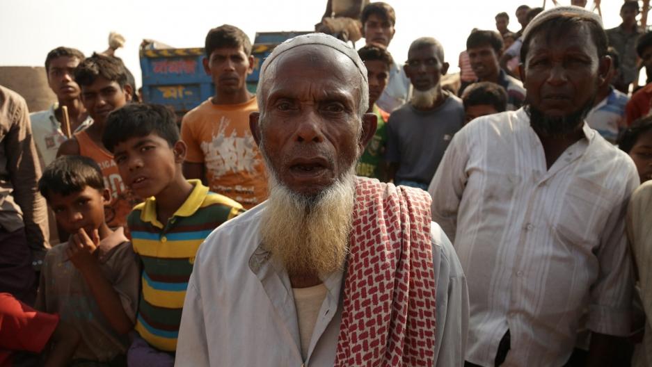 An elderly Rohingya man in the Kutapalong camp in Bangladesh.