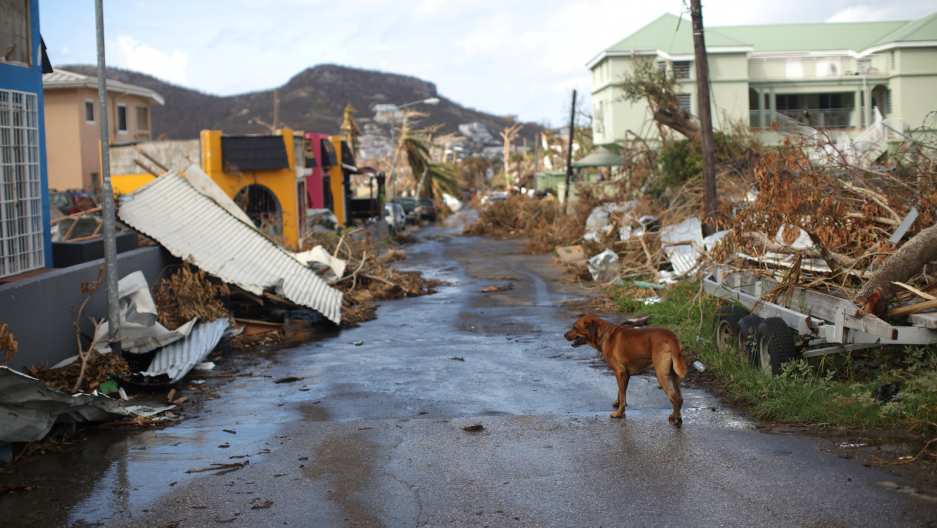 Devastation form Hurricane Irma in Sint Maarten.