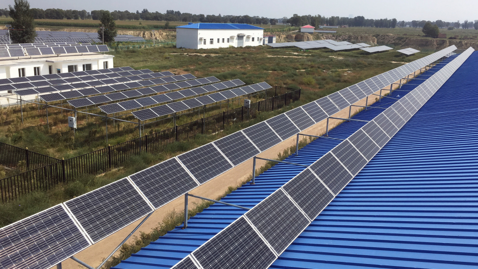 a solar panel farm in China