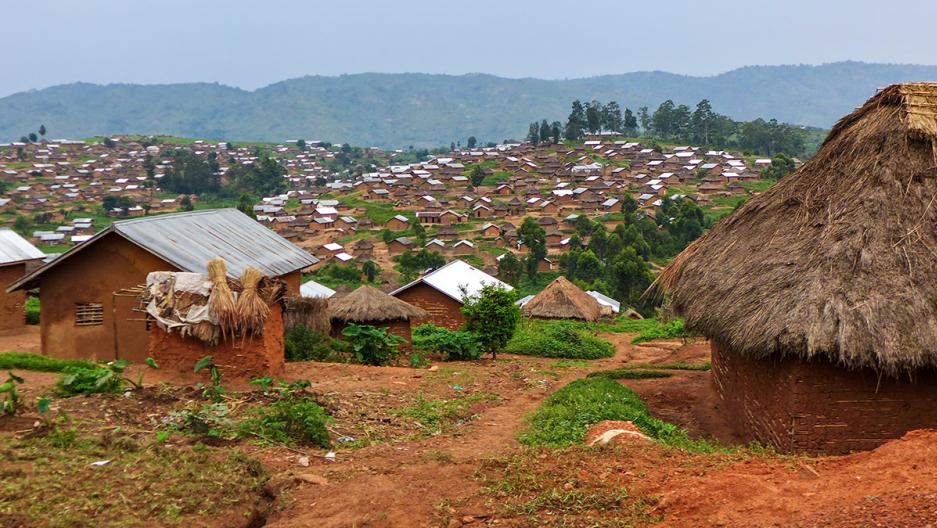 homes in a village in the Democratic Republic of the Congo