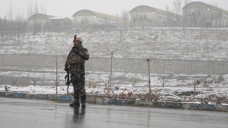 Afghan security force member
