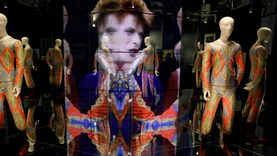 """The """"David Bowie is"""" exhibit at the Brooklyn Museum."""
