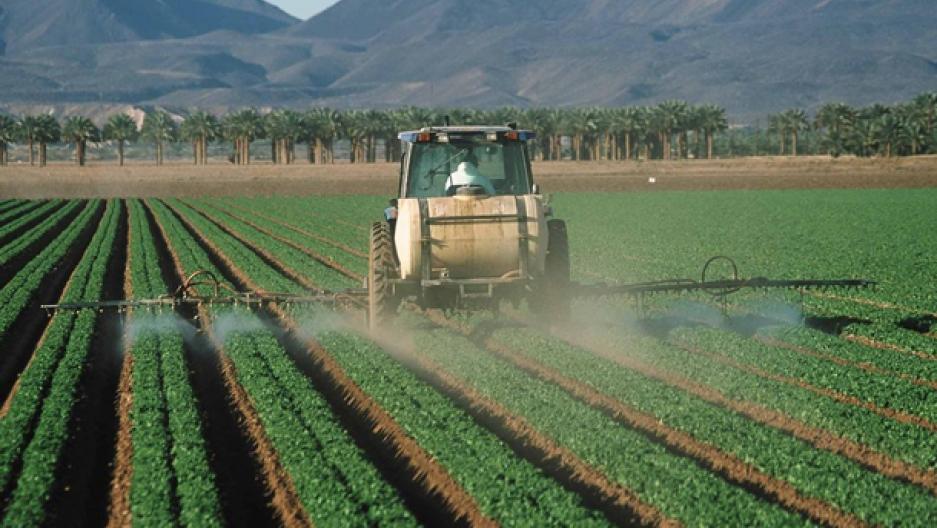 Herbicide spreading