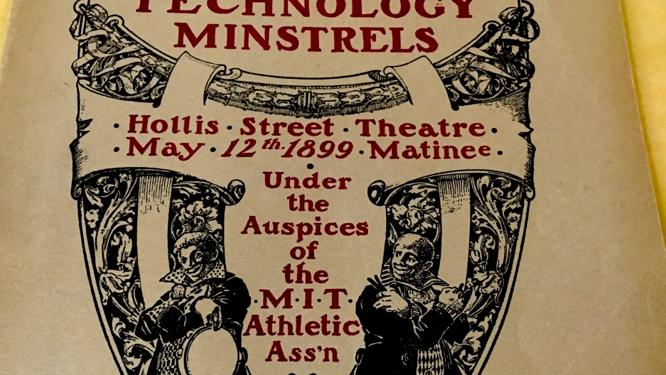 A program from a minstrel show put on by the MIT Athletic Association in 1899.