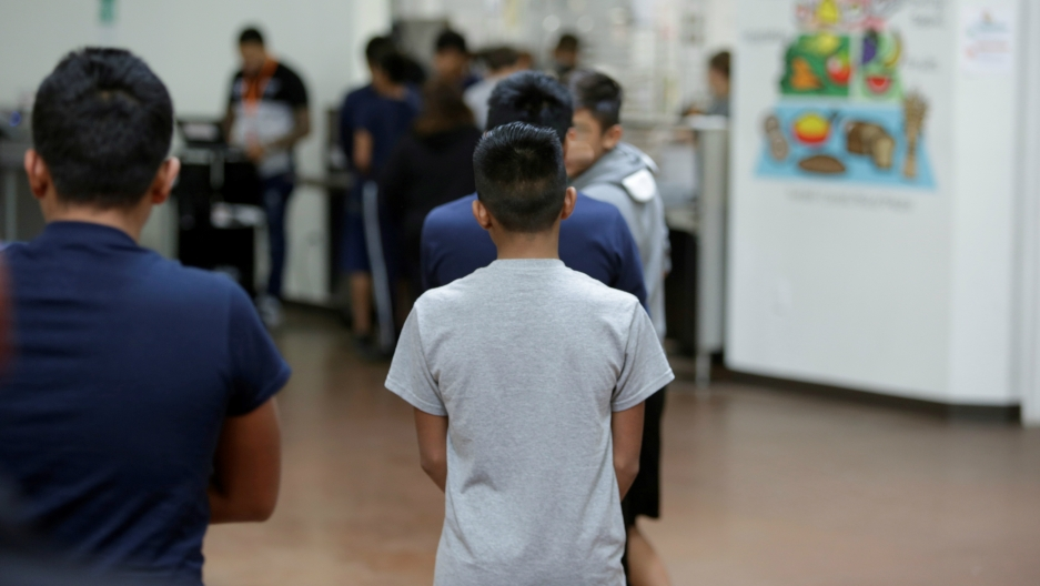 Occupants at Casa Padre, an immigrant shelter for minor boys, in Brownsville, Texas, June 14, 2018.