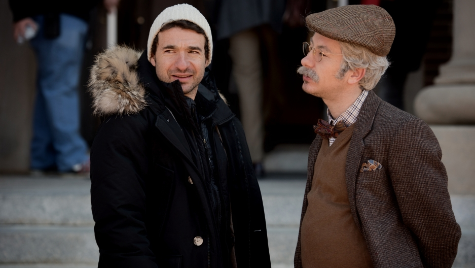 Director Bart Layton with Barry Keoghan as Spencer.