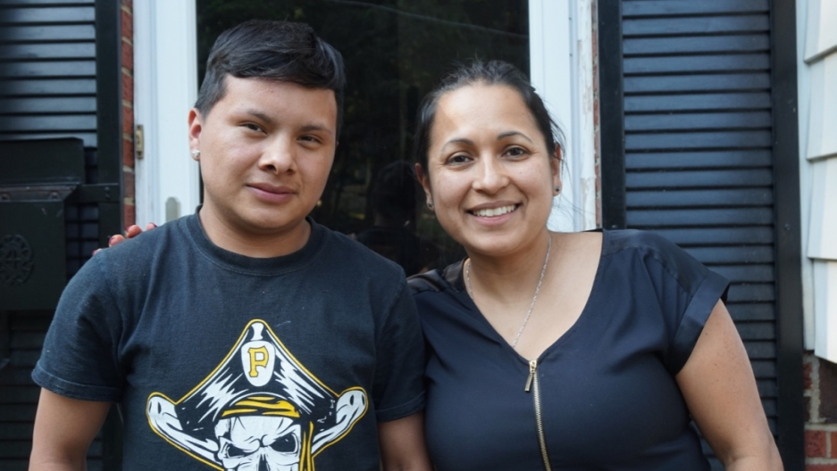 Monica Ruiz and her foster son Bartolo
