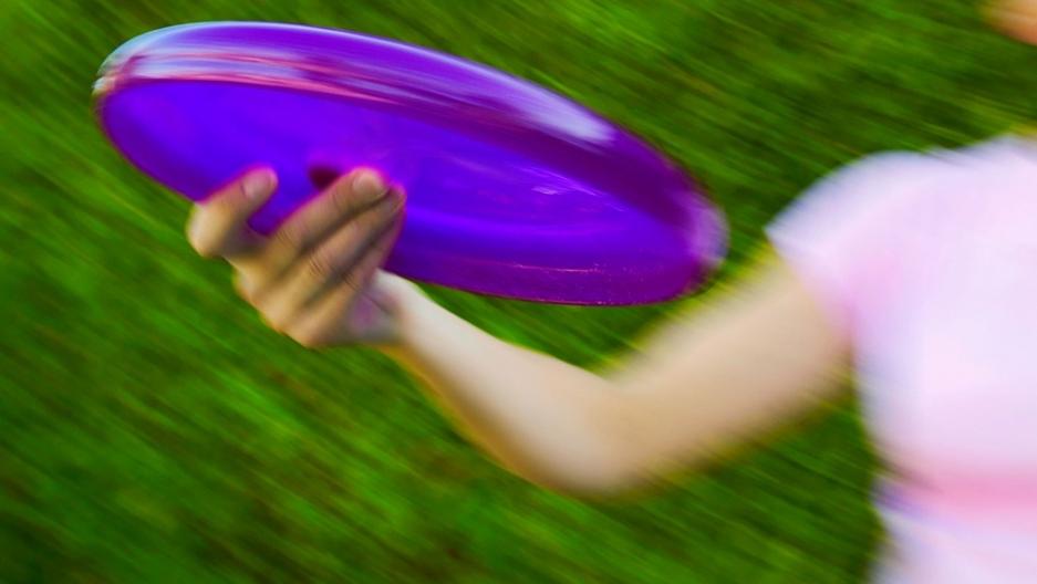 Toss a Frisbee.