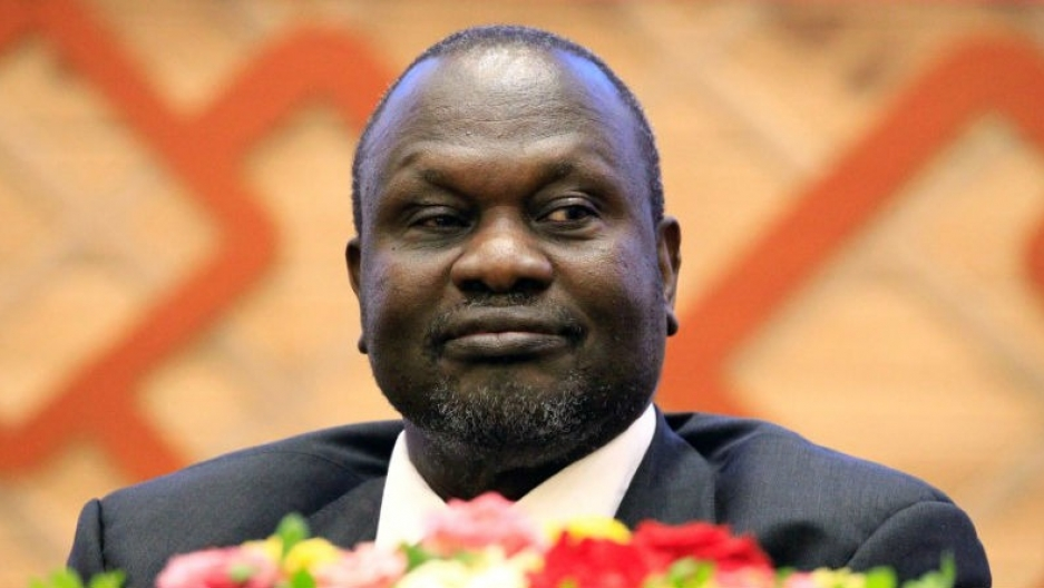 South Sudan rebel leader Riek Machar Kiir attends the signing in Khartoum, Sudan of an accord with the South Sudan government aimed at ending the country's civil war, June 27, 2018.