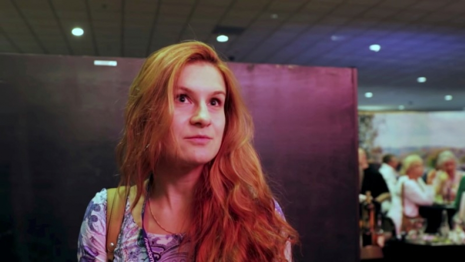 Accused Russian agent Maria Butina speaks to camera at 2015 FreedomFest conference in Las Vegas, Nevada, July 11, 2015 in this still image taken from a social media video obtained July 19, 2018.