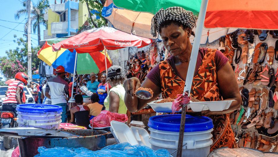 informal food stalls in haiti