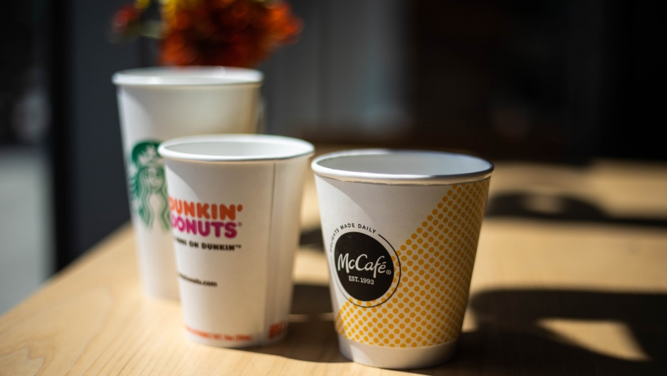 Paper coffee cups have a thin layer of plastic on the inside to prevent leaking. It's a well-engineered vessel, but difficult to recycle.