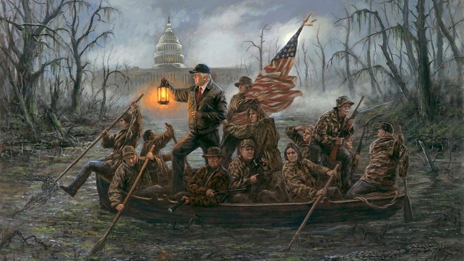 """Crossing The Swamp"" by Jon McNaughton"