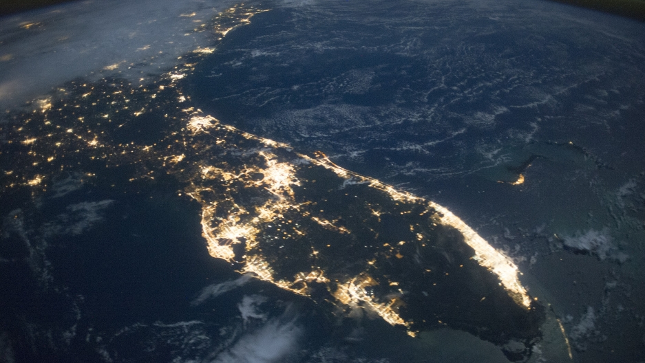 NASA Florida at night