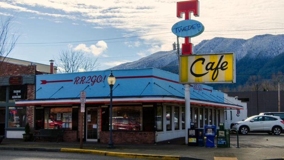 "Twede's Cafe in North Bend, Washington, where the Double R Diner scenes are filmed for ""Twin Peaks."""