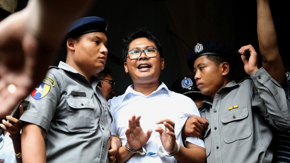 Reuters journalist Wa Lone departs Insein court