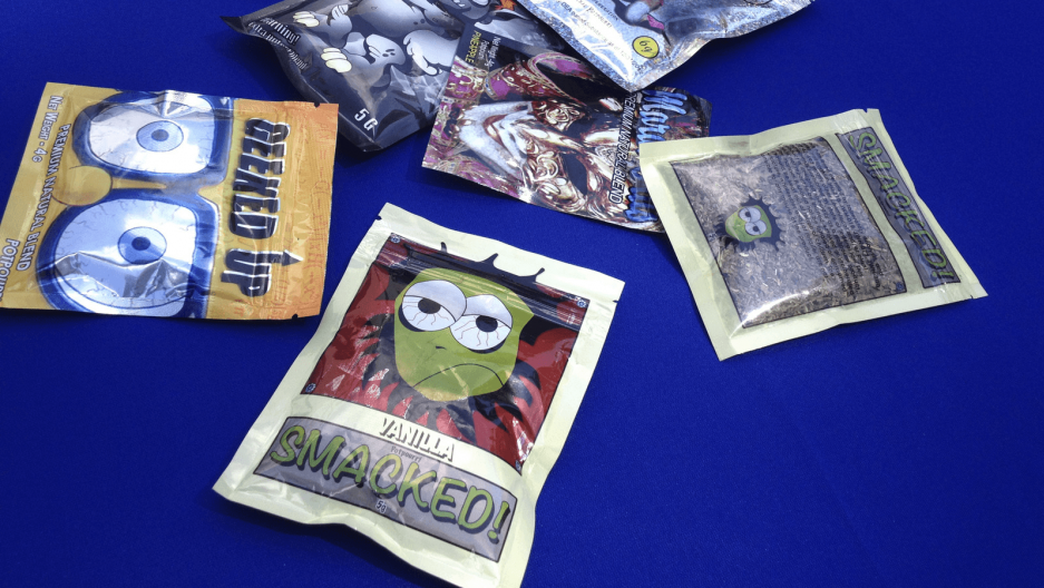 small bags of synthetic marijuana