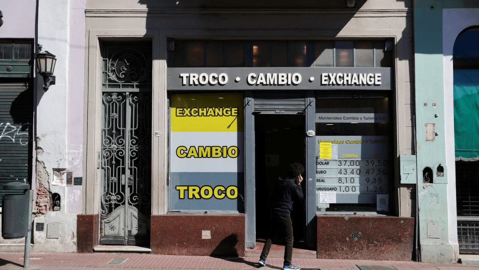 a currency exchange store in argentina